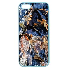 Frost Leaves Winter Park Morning Apple Seamless Iphone 5 Case (color) by Nexatart