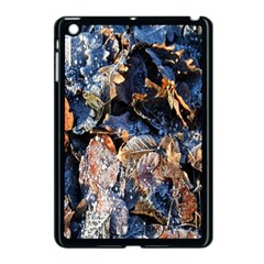 Frost Leaves Winter Park Morning Apple Ipad Mini Case (black)