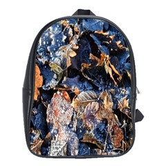 Frost Leaves Winter Park Morning School Bags (xl)  by Nexatart