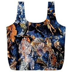 Frost Leaves Winter Park Morning Full Print Recycle Bags (l)  by Nexatart