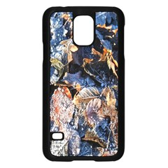 Frost Leaves Winter Park Morning Samsung Galaxy S5 Case (black)