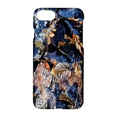 Frost Leaves Winter Park Morning Apple Iphone 7 Hardshell Case by Nexatart