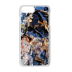 Frost Leaves Winter Park Morning Apple Iphone 7 Plus White Seamless Case by Nexatart