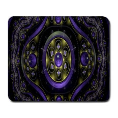 Fractal Sparkling Purple Abstract Large Mousepads by Nexatart