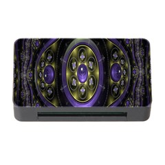 Fractal Sparkling Purple Abstract Memory Card Reader With Cf