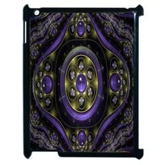 Fractal Sparkling Purple Abstract Apple Ipad 2 Case (black) by Nexatart