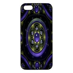 Fractal Sparkling Purple Abstract Apple Iphone 5 Premium Hardshell Case