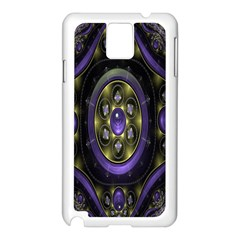 Fractal Sparkling Purple Abstract Samsung Galaxy Note 3 N9005 Case (white)