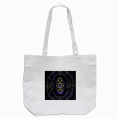 Fractal Sparkling Purple Abstract Tote Bag (white)