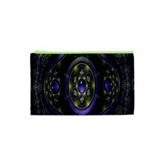 Fractal Sparkling Purple Abstract Cosmetic Bag (xs) by Nexatart