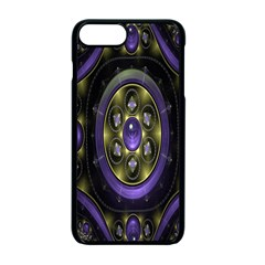 Fractal Sparkling Purple Abstract Apple iPhone 7 Plus Seamless Case (Black)