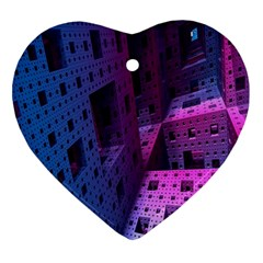 Fractals Geometry Graphic Ornament (heart) by Nexatart