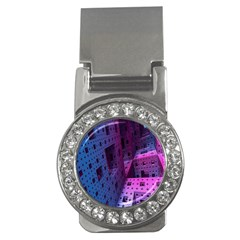 Fractals Geometry Graphic Money Clips (cz)  by Nexatart