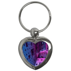 Fractals Geometry Graphic Key Chains (heart)  by Nexatart