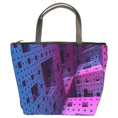 Fractals Geometry Graphic Bucket Bags