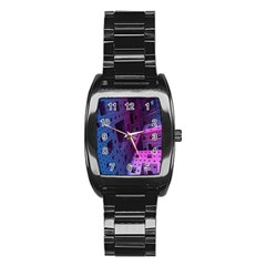 Fractals Geometry Graphic Stainless Steel Barrel Watch