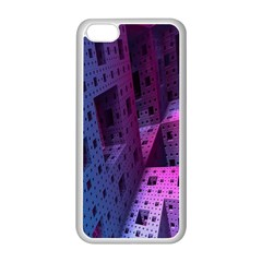 Fractals Geometry Graphic Apple Iphone 5c Seamless Case (white) by Nexatart