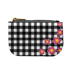 Floral Plaid Pattern Mini Coin Purses by Valentinaart