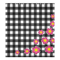 Floral Plaid Pattern Shower Curtain 66  X 72  (large)  by Valentinaart
