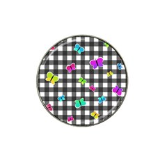 Butterflies Pattern Hat Clip Ball Marker (10 Pack) by Valentinaart