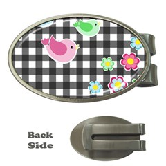 Cute Spring Pattern Money Clips (oval)  by Valentinaart