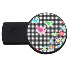 Cute Spring Pattern Usb Flash Drive Round (4 Gb) by Valentinaart
