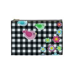 Cute Spring Pattern Cosmetic Bag (medium)  by Valentinaart