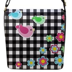 Cute Spring Pattern Flap Messenger Bag (s) by Valentinaart