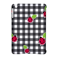 Ladybugs Plaid Pattern Apple Ipad Mini Hardshell Case (compatible With Smart Cover) by Valentinaart