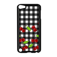 Cherries Plaid Pattern  Apple Ipod Touch 5 Case (black) by Valentinaart