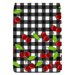 Cherries Plaid Pattern  Flap Covers (s)  by Valentinaart