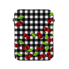 Cherries Plaid Pattern  Apple Ipad 2/3/4 Protective Soft Cases by Valentinaart