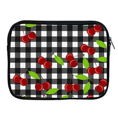 Cherries Plaid Pattern  Apple Ipad 2/3/4 Zipper Cases by Valentinaart