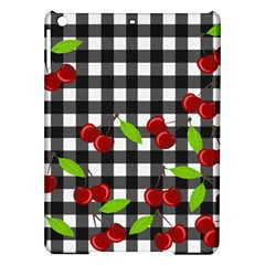 Cherries Plaid Pattern  Ipad Air Hardshell Cases by Valentinaart