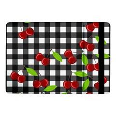 Cherries Plaid Pattern  Samsung Galaxy Tab Pro 10 1  Flip Case by Valentinaart