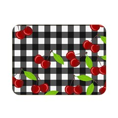 Cherries Plaid Pattern  Double Sided Flano Blanket (mini)  by Valentinaart