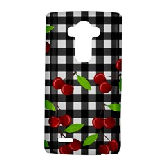Cherries Plaid Pattern  Lg G4 Hardshell Case by Valentinaart