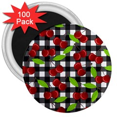 Cherry Kingdom  3  Magnets (100 Pack) by Valentinaart