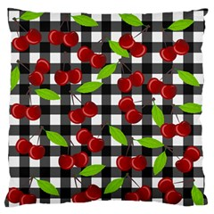 Cherry Kingdom  Large Flano Cushion Case (two Sides) by Valentinaart