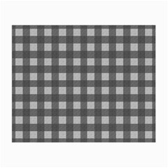 Gray Plaid Pattern Small Glasses Cloth by Valentinaart