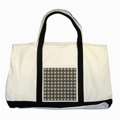 Gray Plaid Pattern Two Tone Tote Bag by Valentinaart