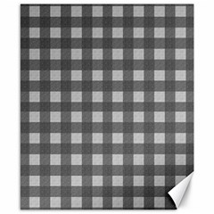 Gray Plaid Pattern Canvas 8  X 10  by Valentinaart