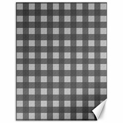 Gray Plaid Pattern Canvas 12  X 16   by Valentinaart