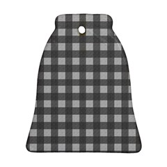 Gray Plaid Pattern Ornament (bell) by Valentinaart