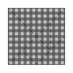 Gray Plaid Pattern Acrylic Tangram Puzzle (6  X 6 ) by Valentinaart