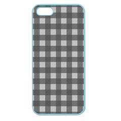 Gray Plaid Pattern Apple Seamless Iphone 5 Case (color) by Valentinaart