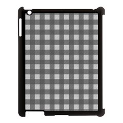Gray Plaid Pattern Apple Ipad 3/4 Case (black) by Valentinaart