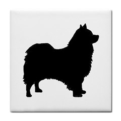 Icelandic Sheepdog Silo Black Tile Coasters by TailWags