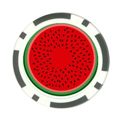 Watermelon Poker Chip Card Guard by Valentinaart