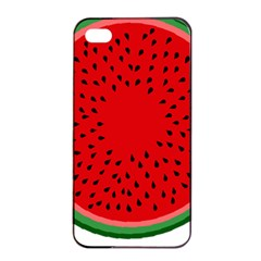 Watermelon Apple Iphone 4/4s Seamless Case (black) by Valentinaart